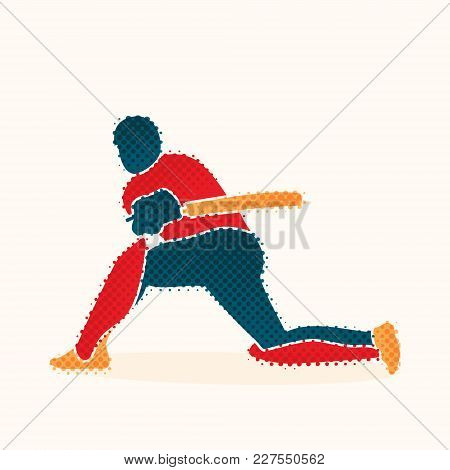 Cricket Player Hitting Big Cover Drive Shoot  Concept Design
