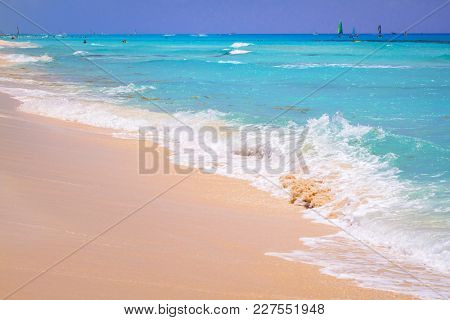 Beautiful beach at Caribbean sea in Mexico