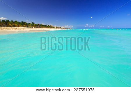 Beautiful lagoon of Caribbean sea, Mexico
