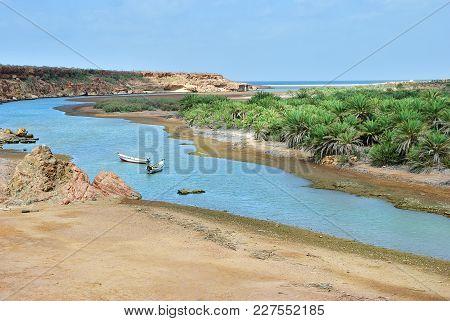 Landscape Of The Exotic Island Of Socotra, Yemen