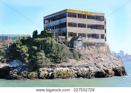 San Francisco. View On Prison Alcatraz. Maximum High Security Federal Prison. Usa.
