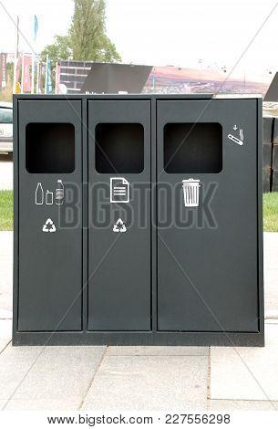 Black Trash Can