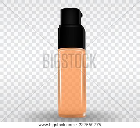 Design Cosmetics Product Template For Ads Or Magazine Background On Transparent Background. 3d Reali