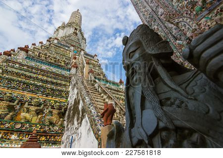Wat Arun, Thailand - February 1, 2015: Wat Arun Or Commonly Referred To In The Language That The Mea