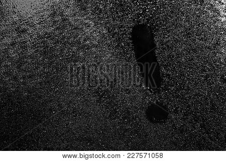 Exclamation Mark On The Fogged Glass, Background Image