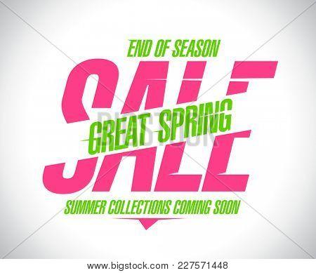 Great spring sale banner, rasterized version