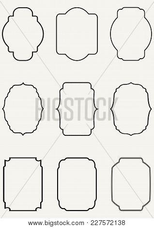 Vector Vintage Border Frame Set - Design