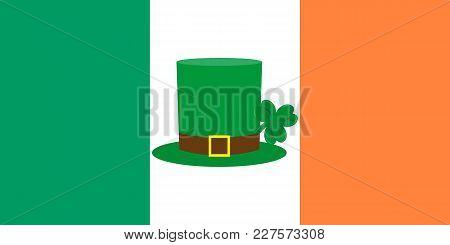Hat Cylinder On St. Patrick S Day Vector Illustration