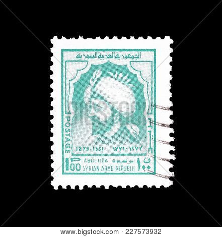 Syria - Circa 1974 : Cancelled Postage Stamp Printed By Syria, That Shows Portrait Of Abul Fida.