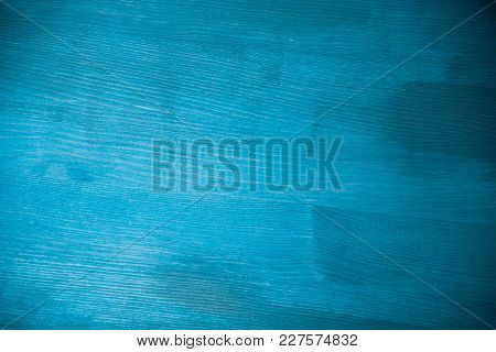 Light Blue Wood Texture. Light Blue Wood Background. Closeup View Of Blue Wood Texture And Backgroun