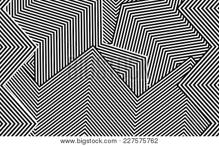 Zebra Lines Design With Black And White Stripes Vector, Stripes Fashion Texture, Zebra Print