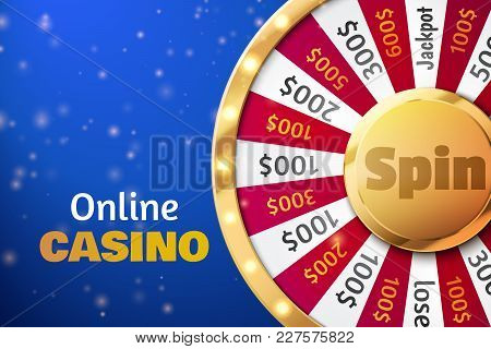 Fortune Wheel Vector Background. Online Casino Concept. Lucky Roulette Vector Illustration