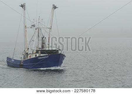 New Bedford, Massachusetts, Usa - February 20, 2018: Commercial Fishing Vessel Timberwolf, Hailing P