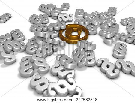 Copyright Symbol And Paragraph Symbols On White Background - 3d Rendering