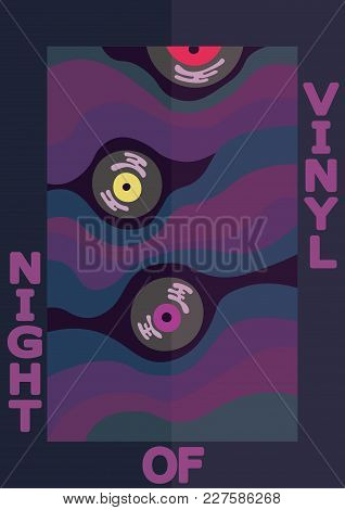 Cover For Organization Dj, Vinyl Night Party.