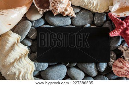 many stones and sea shells