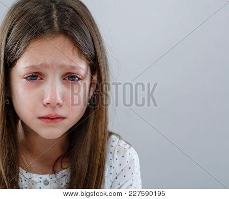 Sad and crying girl
