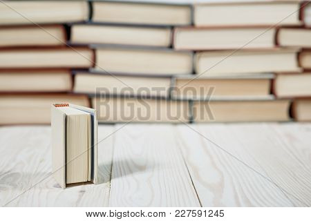 Stack Of Old Books Pastel Colors