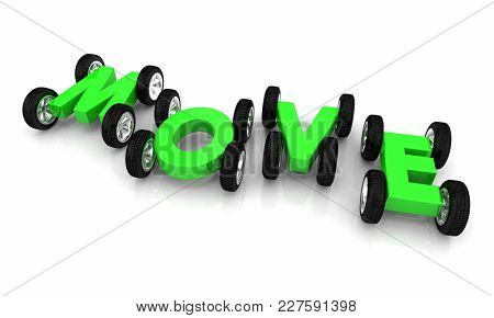 Move Driving Car Vehicle Transportation 3d Illustration
