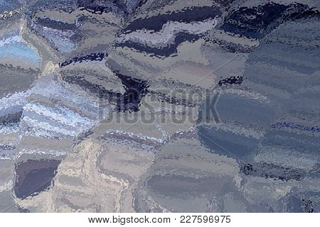 Tones Of Blue And Grey Rippled Glass Abstract Effect Textured Background
