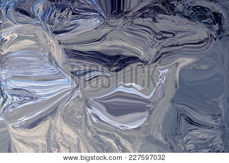 Tones Of Blue And Grey Created Marble Effect For Textured Background