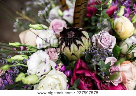 Wedding Bouquet In Boho Style.