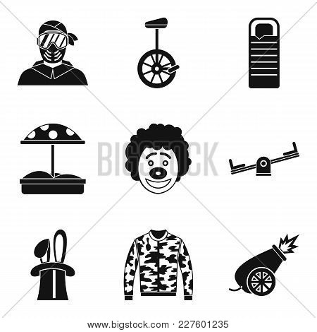 Holidays Family Icons Set. Simple Set Of 9 Holidays Family Vector Icons For Web Isolated On White Ba