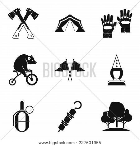 Family Vacation Icons Set. Simple Set Of 9 Family Vacation Vector Icons For Web Isolated On White Ba
