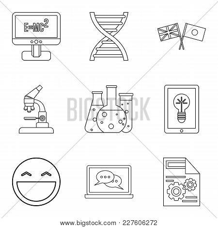 Scholarship Icons Set. Outline Set Of 9 Scholarship Vector Icons For Web Isolated On White Backgroun