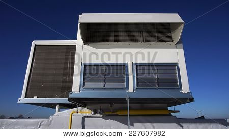 Air Vents On Top Of A Commercial Building