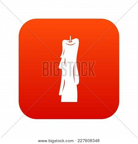 Wax Candle Icon Digital Red For Any Design Isolated On White Vector Illustration
