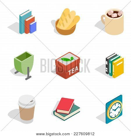 Home Rest Icons Set. Isometric Set Of 9 Home Rest Vector Icons For Web Isolated On White Background