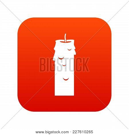 Paraffin Candle Icon Digital Red For Any Design Isolated On White Vector Illustration