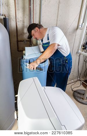 Experienced Home Installer With A New Water Softener Trying To Solve Installation Problems In A Base