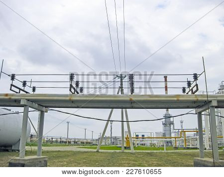 Protection Of The Pipeline From The Wires. Electrical Grounding.