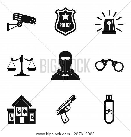 Safeguarding Icons Set. Simple Set Of 9 Safeguarding Vector Icons For Web Isolated On White Backgrou