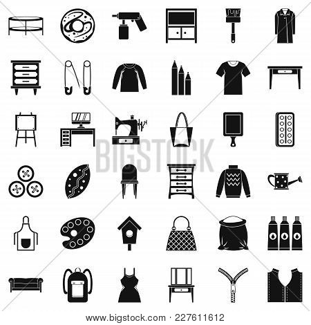 Garment Icons Set. Simple Set Of 36 Garment Vector Icons For Web Isolated On White Background