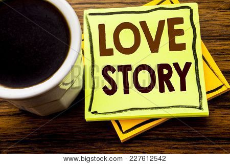 Love Story Word Cloud Collage, Heart Concept Background