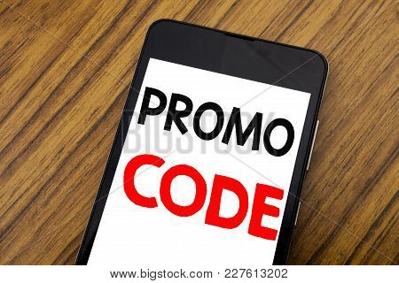 Word, Writing Handwriting Promo Code. Business Concept For Promotion For Online Business Written On