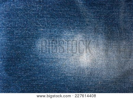 Blue Faded Jeans Texture, Macro, Close Up