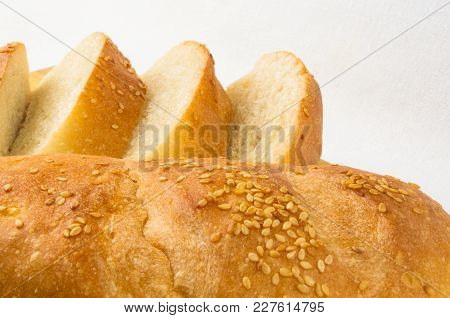 Sliced Whole Wheat Breads On A Chopping Board