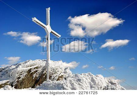 summit Grosser Osser in national park Bavarian forest-Germany