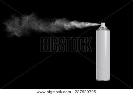 Pushing Spray Can White Color Of Insecticide