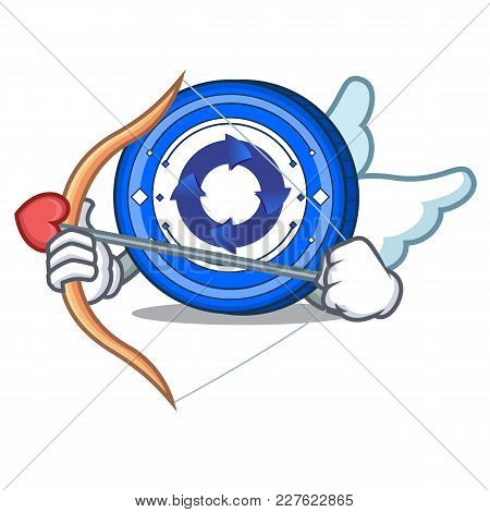 Cupid Cryptonex Coin Character Cartoon Vector Illustration