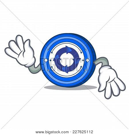 Crazy Cryptonex Coin Mascot Cartoon Vector Illustration