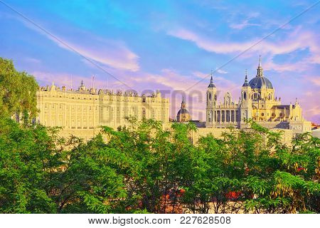 Panorama View On Royal Palace (palacio Real) In The Capital Of S