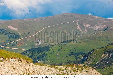 Landscape Of Parang Mountains In Carpatians, Romania