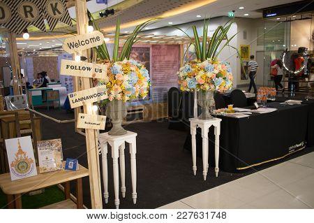 Chiang Mai, Thailand - February 20 2018: Information Boot Of Funiture Design Thesis Of Rajamangala U