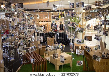 Chiang Mai, Thailand - February 20 2018: Postcard Show Activity Of Student Work Before Funiture Desi