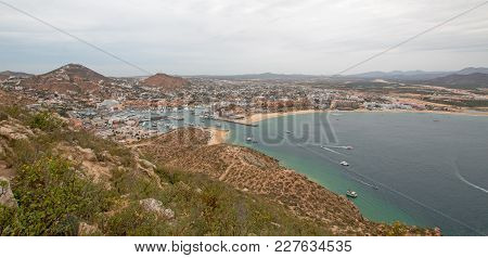 View Of Sea Of Cortes And Cabo San Lucas Marina As Seen From The Top Of The Mount Solmar Hiking Trai